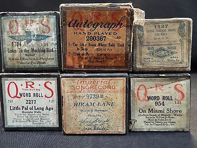 (6) Piano Rolls Silver Threads Among the Gold/On Miami Shore & 4 More  (#45)