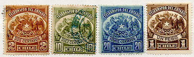 (I.B) Chile Telegraphs : 1883 Arms Collection (large format)
