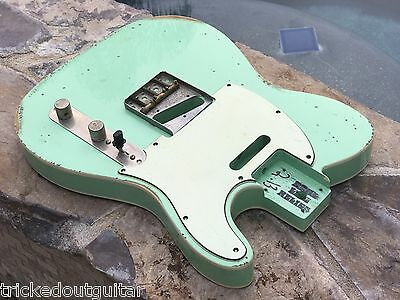 Real Life Relics Aged Custom Surf Green Tele Telecaster Body Double Bound