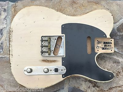 Real Life Relics Aged Custom Vintage Blond Tele Telecaster Body #2