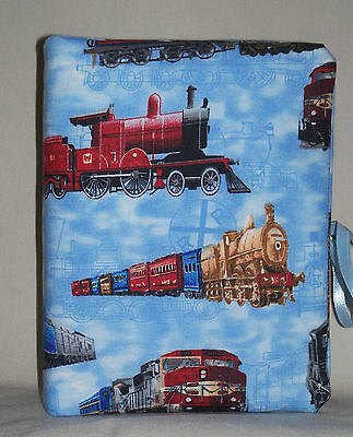 "Railroad Train Handcrafted Handmade Photo Album Holds 80 4""X6"" - NEW"