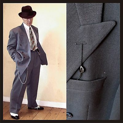 "MAKE OFFER Vintage Lindy Hop 42 36 suit NEW Swing demob style 12¼"" Hi waist"