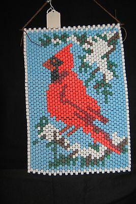 Finished Beaded - CARDINAL - Wall Hanging Beadery Craft Products