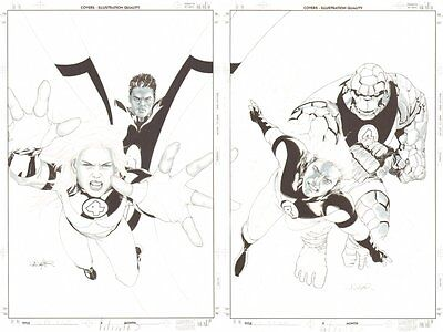 Ultimate Fantastic Four #40 AND #41 Covers - 2007 art by Salvador Larroca