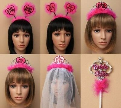 Pack Of Hen Party Hair Accessories, Deeley Bopper, Tiara Crown, Party, Costume