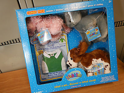 New Webkinz Lil' Kinz Pet Animials 5 piece Combo Pack w/ Clothes