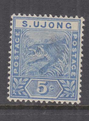 SUNGEI UJONG, 1893 Tiger, 5c. Blue, heavy hinged mint.