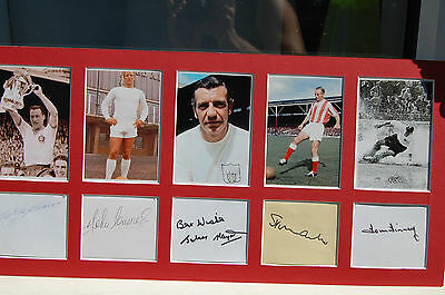 Football 5 All Time Greats Signed Photo Mount Matthews, Charles, Finney  Etc