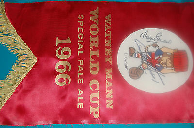 1966 World Cup Willie Penant Signed By Geoff Hurst & Martin Peters