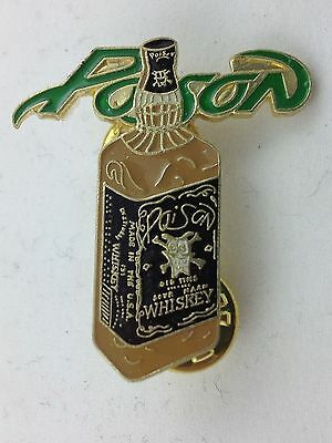 Poison Solid Metal Pin ~ Jack Daniels parody