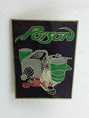Poison Solid Metal Pin ~ Deadly Vices