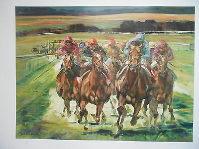 CLAIRE EVA BURTON~**GOODWOOD**~NEW Signed Limited Edition Print~