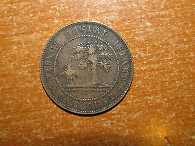 PEI Prince Edward Island 1871 Large Cent coin Queen Victoria