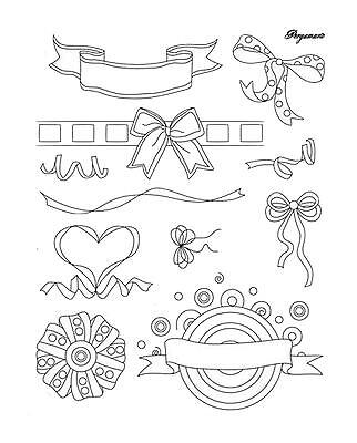 11 PERGAMANO Clear Stamps Silikon STEMPEL Banner Schleifen RIBBON BOWS 1612