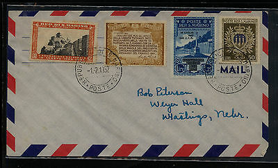 San  Marino  nice franking airmail cover to US  1952       APL0724