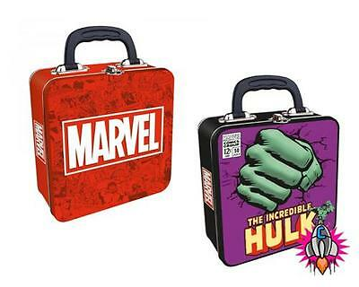 Official Marvel Comics Embossed Lunch Tin Tote Box Hulk Characters