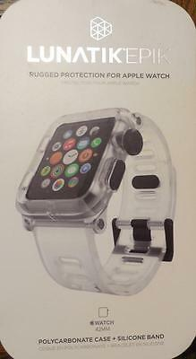 LUNATIK EPIK Polycarbonate Case and Silicone Band for Apple Watch 42mm Clear