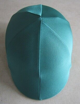 Horse Helmet Cover ALL AUSTRALIAN MADE Dark Green lycra.  Any size you need