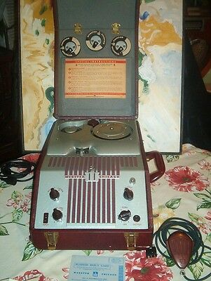WEBSTER CHICAGO WIRE RECORDER 80-1 with NEIL ARMSTRONG 1969 moon landing WORKS