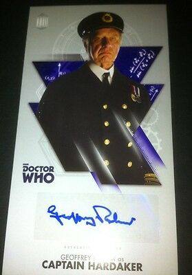 TOPPS Dr Who Tenth Doctor Adventures Autograph Auto Card  GEOFFREY PALMER. BBC