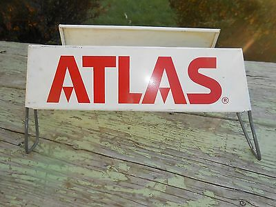 Vintage ATLAS TIRES ADVERTISING SIGN TIRE DISPLAY RACK