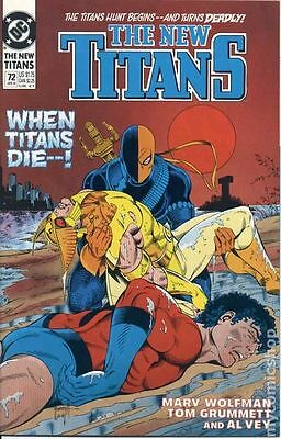 New Teen Titans (1984 2nd Series) New Titans #72 VG LOW GRADE