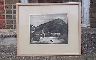 """BLANCHE McVEIGH SIGNED PENCIL PRINT """"SLEEPY PLAZA"""" RARE LIMITED EDITION 1 OF 50"""