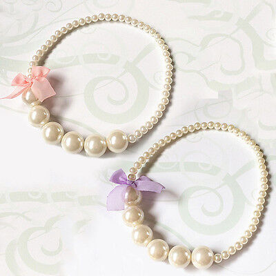 New Design Princess Toddlers Gift Imitation Pearls Baby Girls Party Necklace
