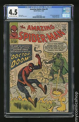 Amazing Spider-Man (1963 1st Series) #5 CGC 4.5 (1350277005)