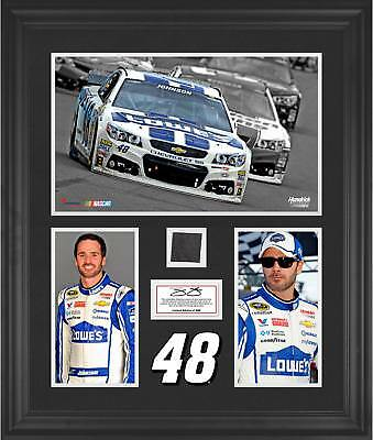 Limited Edition Jimmie Johnson Framed Photo Collage with Race-Used Tire