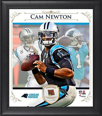 Cam Newton NFL Carolina Panthers Framed 15x17 Collage w/ Piece of Game Football
