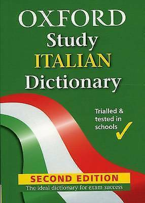 NEW Oxford Study Italian Dictionary By Dino Bressan Paperback Free Shipping