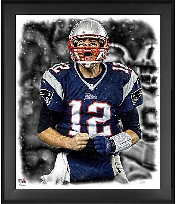 "Tom Brady New England Patriots Framed 20"" x 24"" In the Zone Photograph"