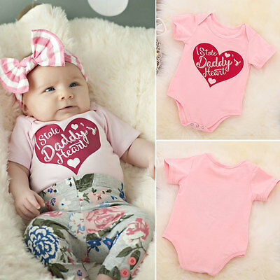 Cotton Newborn Baby Girl Short Clothes Bodysuit Romper Jumpsuit Bodysuit Outfits