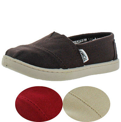Toms Classic Little Big Kids Youth Slip On Canvas Shoes Boys Girl Unisex
