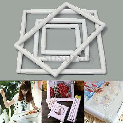 Universal Plastic Square Embroidery Frame Cross Stitch Hoop Sewing Craft Tool