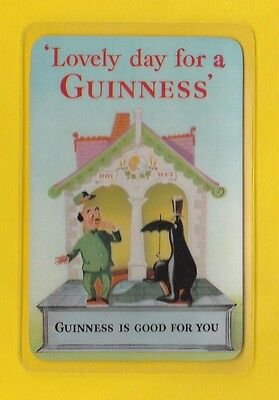 Advertising  -  Guinness   Plastic  Coated  Card  With  1955  Calendar