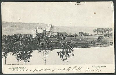 Lochinch Castle Dumfries & Galloway Stranraer 1903 Valentine Printed Postcard