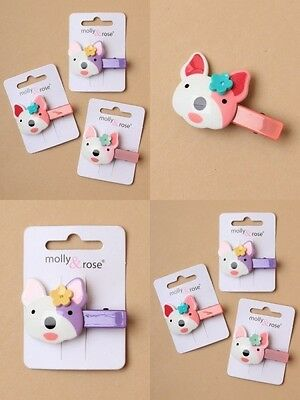 PACK OF 6 PLASTIC 5cm BEAK CLIPS WITH FRENCH BULLDOG MOTIF : SP-6585 PK6