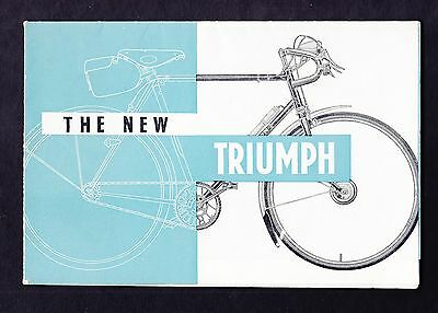 Triumph Bicycles 1957 The New Triumph Original Bicycle Catalogue Brochure Priced