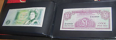 40 Foreign/english  Bank Note's In Brand New Album