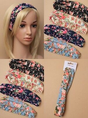 Pack Of 4 Floral Print Jersey Stretch Bandeaux : Sp-6515 Pk4