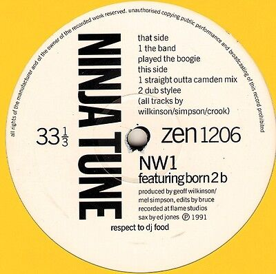 """12"""" Maxi  NW1 Featuring Born 2 B – The Band Played The Boogie   Acid Jazz"""