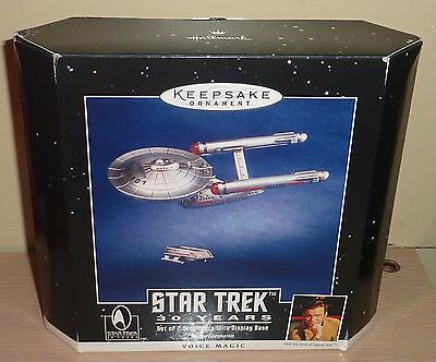 1996 Star Trek Hallmark Series Ornament ~ Enterprise & Shuttle Set