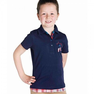 new ** Harry Hall T shirt **navy junior polo top 7-8 years childrens no 1 rider