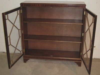Bevan Funnell Reprodux antique Regency style mahogany library bookcase cabinet