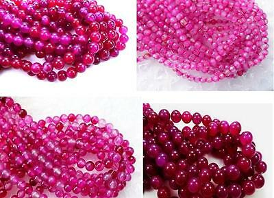 UKcheapest-pink dragonvein fire Agate round faceted 4 6mm gemstone beads