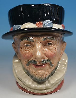 """A Royal Doulton Large Character Jug Beefeater """"E.R"""" D 6206 Nicely Painted Firsts"""