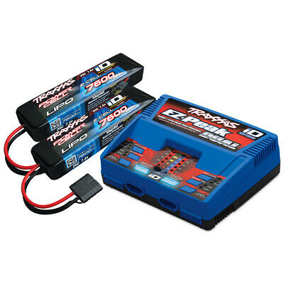 Traxxas 2991 EZ-Peak Dual Charger w/ Two 2S 25C 7600mAh ID LiPo Batteries
