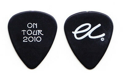Eric Clapton Black Guitar Pick - On Tour 2010